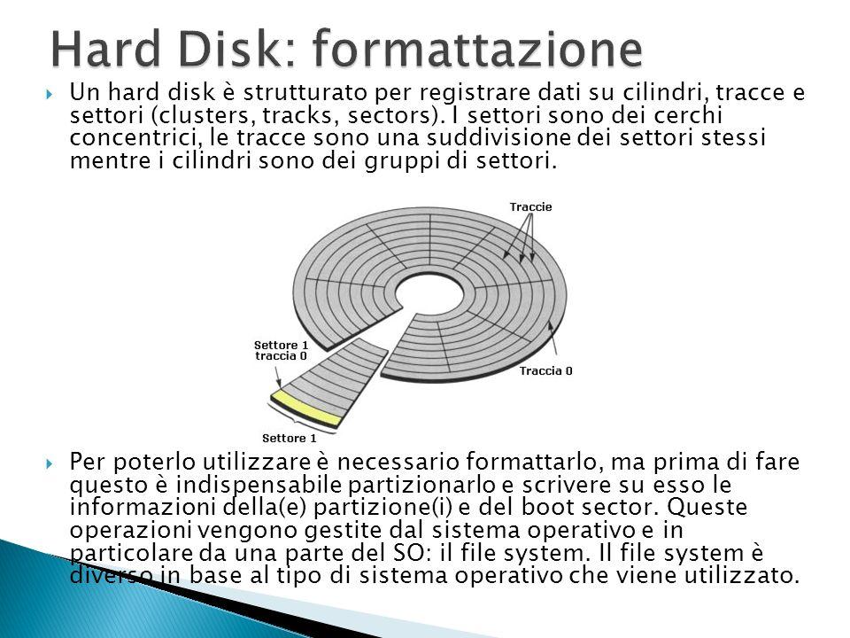 Le particelle di ferro sulla superficie del disco sono disposte in modo casuale. Quando si deve memorizzare un dato, la testina di lettura /scrittura