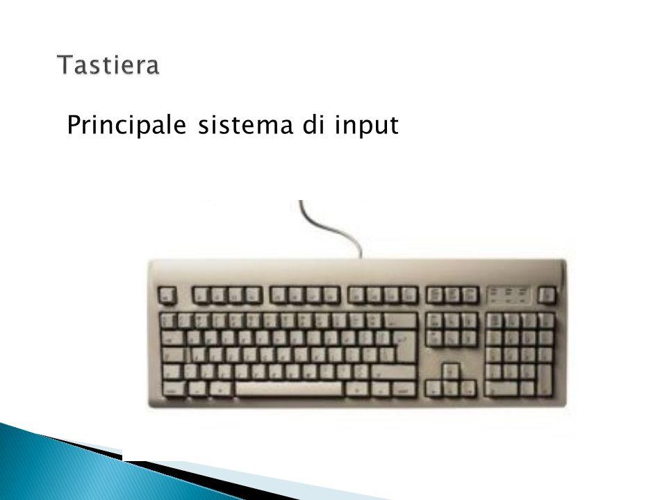 Memoria (centrale o principale) supporto per la registrazione di dati e programmi UCE (unità centrale di elaborazione) o CPU (Central Processing Unit)
