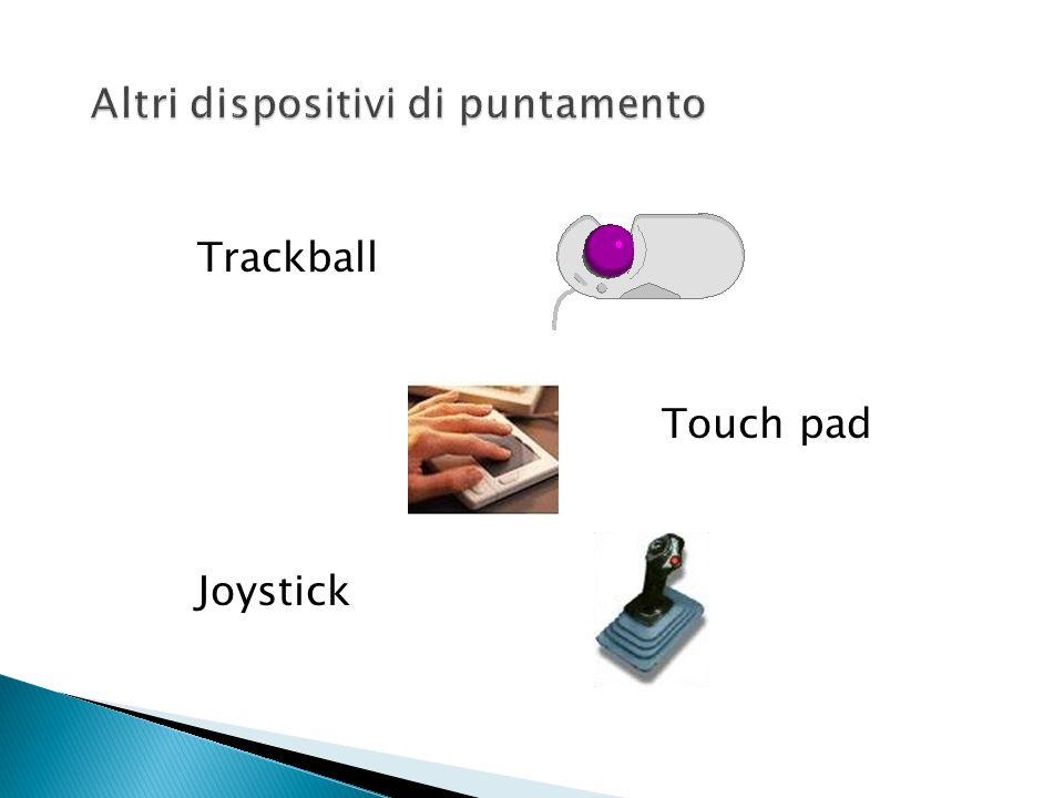 Altro dispositivo di input fondamentale nei personal computer moderni Dispositivo di puntamento e selezione