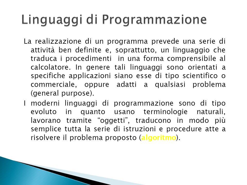 Per applicativo si intende un programma o un insieme di programmi che permettono la gestione e lelaborazione delle informazione qualsiasi essa sia (of