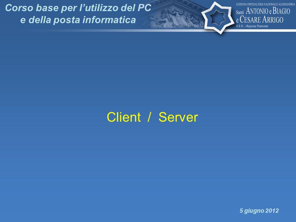 Corso base per lutilizzo del PC e della posta informatica Client / Server 5 giugno 2012