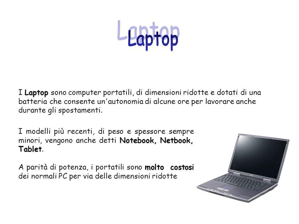 Notebook, Netbook, Tablet I modelli più recenti, di peso e spessore sempre minori, vengono anche detti Notebook, Netbook, Tablet. molto costosi A pari
