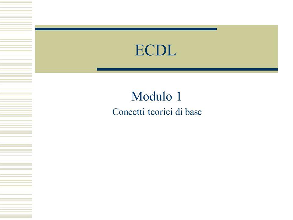 ECDL Modulo 1 Concetti teorici di base