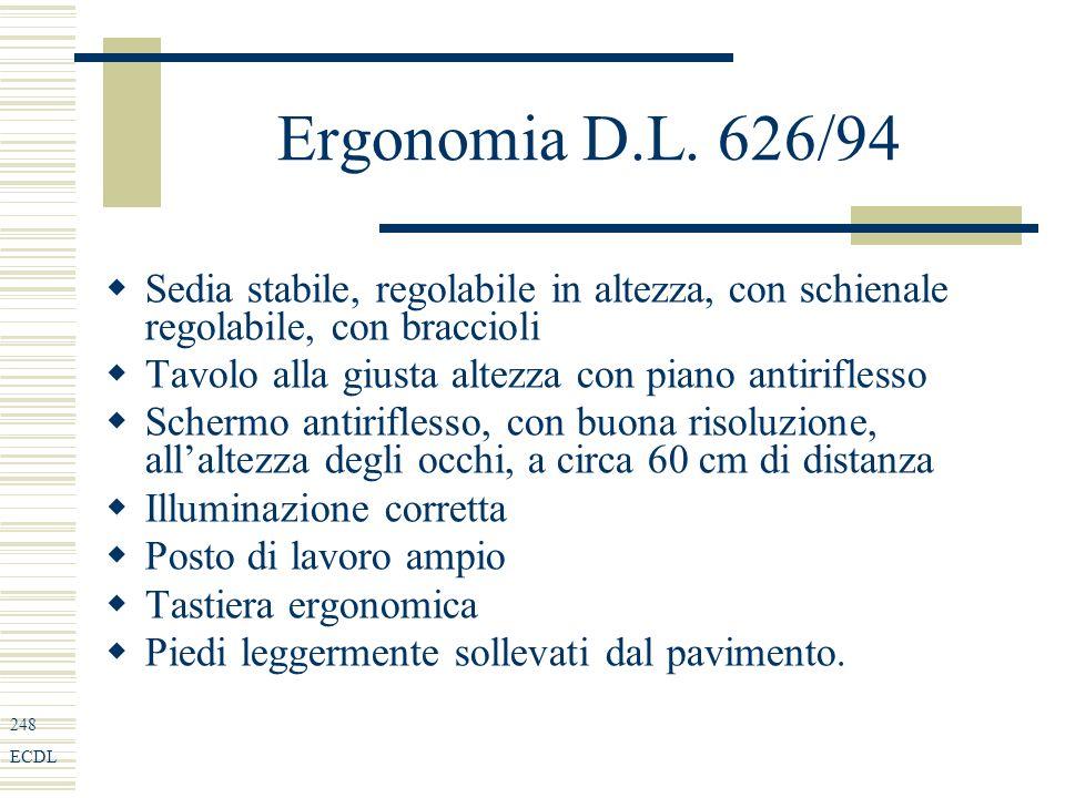 248 ECDL Ergonomia D.L.