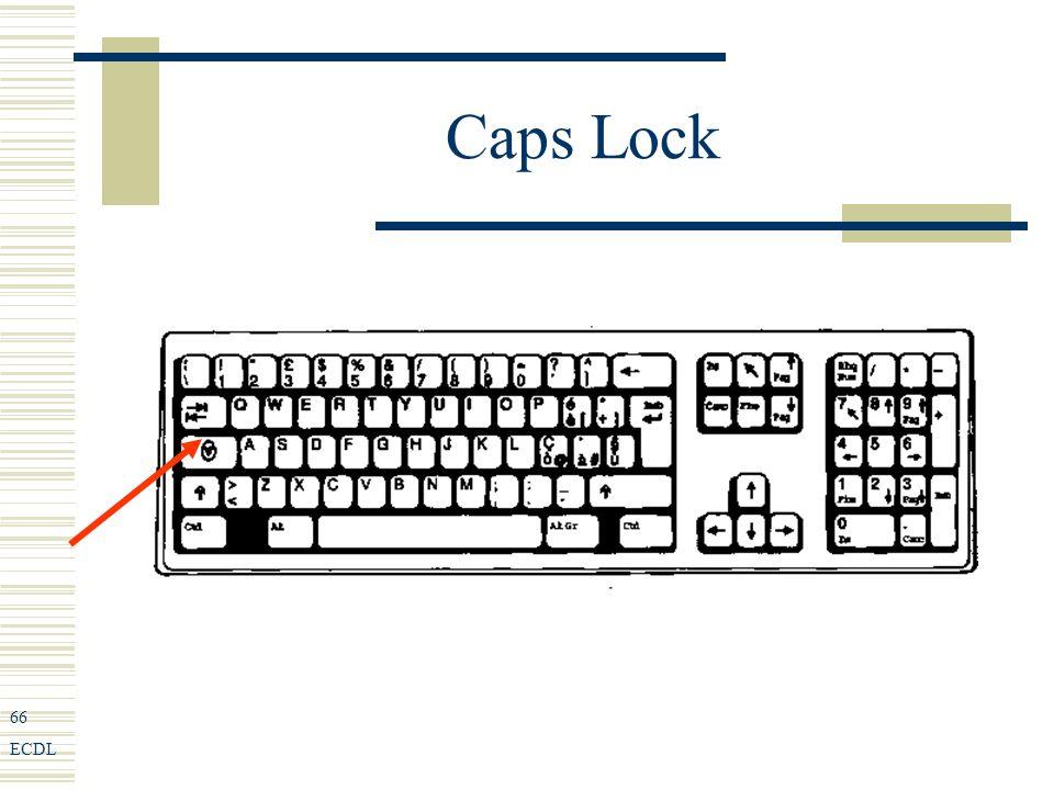 66 ECDL Caps Lock