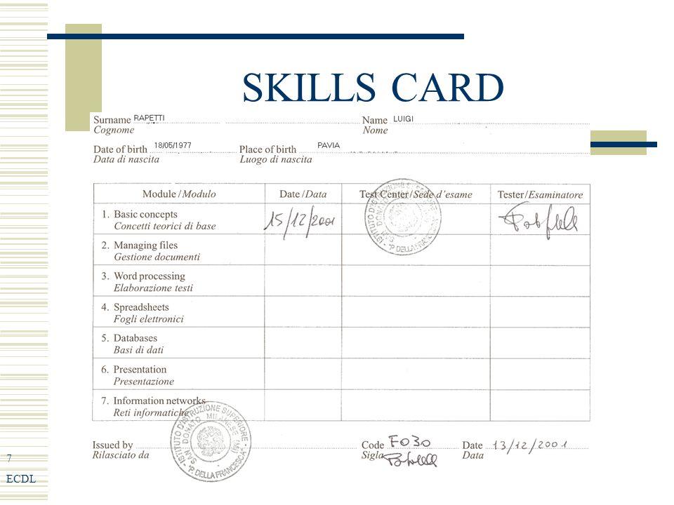 48 ECDL Tipi di terminale i Self-service Bancomat Certificazione comunale Sportello segreterie studenti universitarie