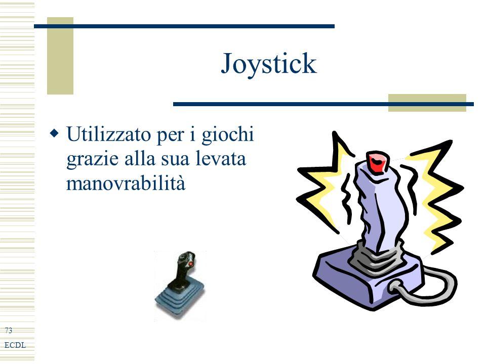 73 ECDL Joystick Utilizzato per i giochi grazie alla sua levata manovrabilità