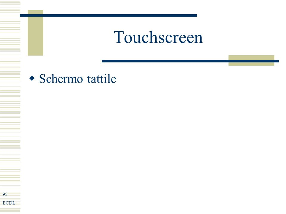 95 ECDL Touchscreen Schermo tattile