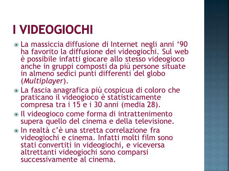 La massiccia diffusione di Internet negli anni 90 ha favorito la diffusione dei videogiochi. Sul web è possibile infatti giocare allo stesso videogioc