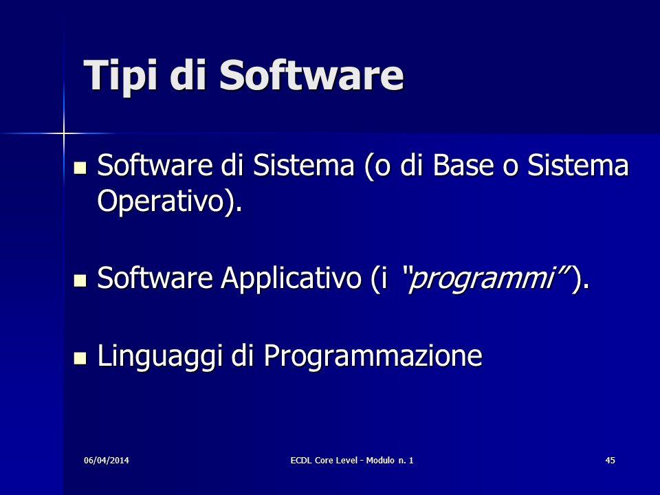 Tipi di Software Software di Sistema (o di Base o Sistema Operativo). Software di Sistema (o di Base o Sistema Operativo). Software Applicativo (i pro