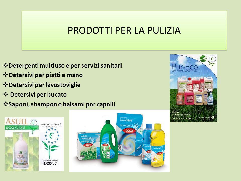 PRODOTTI PER LA PULIZIA Detergenti multiuso e per servizi sanitari Detersivi per piatti a mano Detersivi per lavastoviglie Detersivi per bucato Saponi