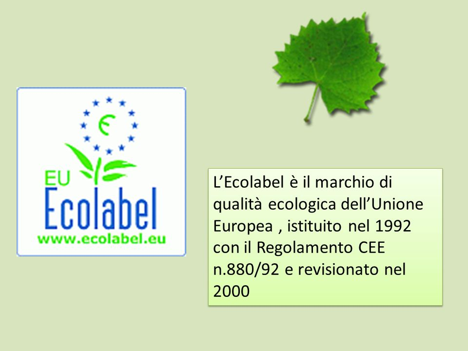 PER LATTENZIONE www.ecolabelweek.apat.it/