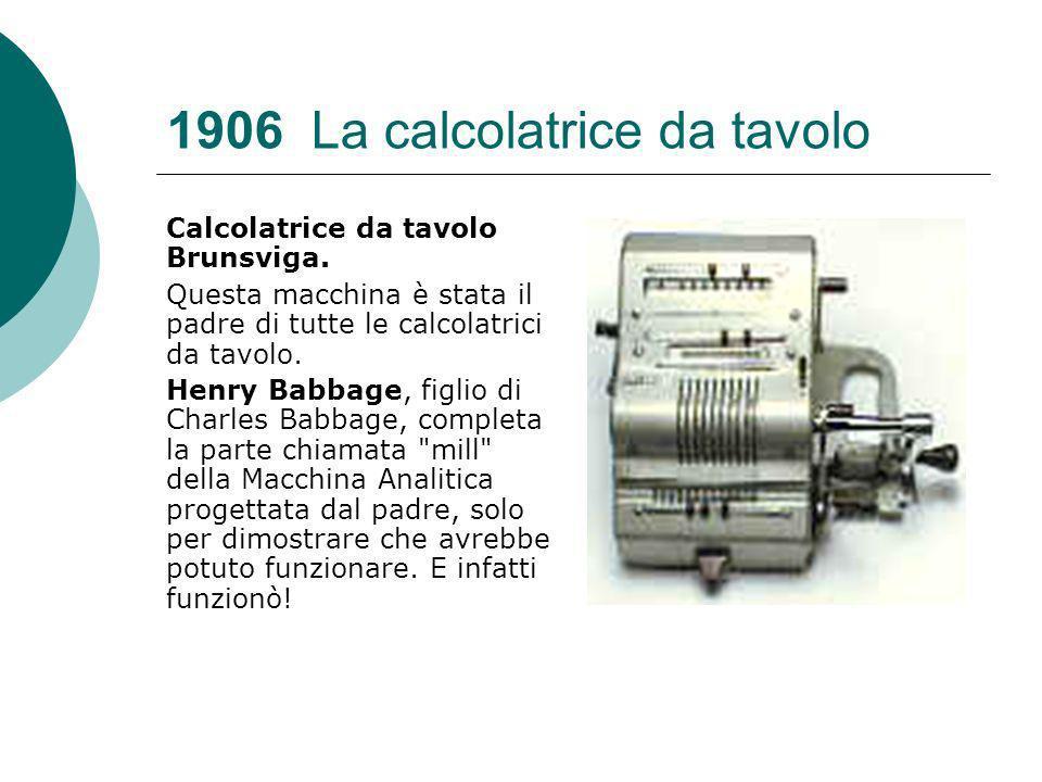 1906 La calcolatrice da tavolo Calcolatrice da tavolo Brunsviga.