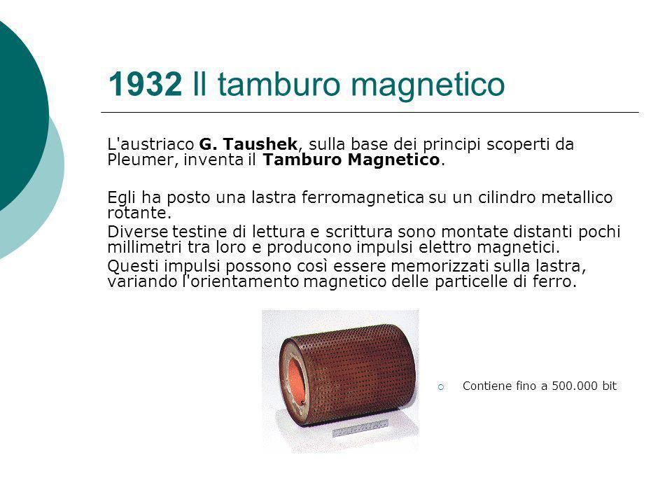 1932 Il tamburo magnetico L austriaco G.