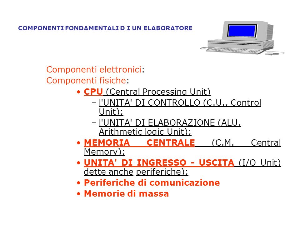 I Sistemi Operativi che vanno ricordati sono: Windows (98, 2000, NT, XP, Vista,7), Unix, Linux e Mac Operating System.