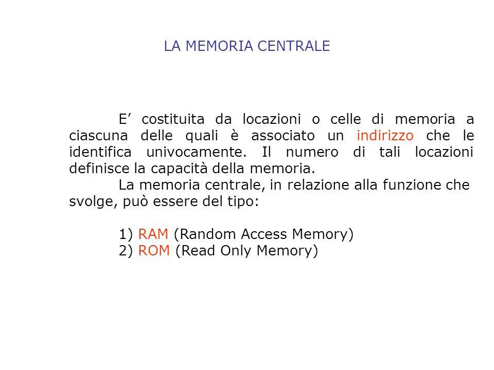L unità centrale di elaborazione (CPU) viene definita il cervello dell intero elaboratore.