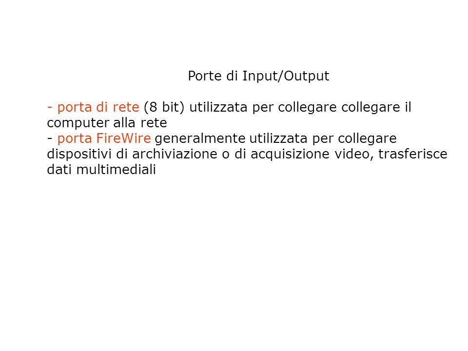 Porte di Input/Output Slot di espansione sono dei contenitori posti sulla scheda madre in cui é possibile inserire schede di espansione esempio scheda audio, scheda video, modem interno.