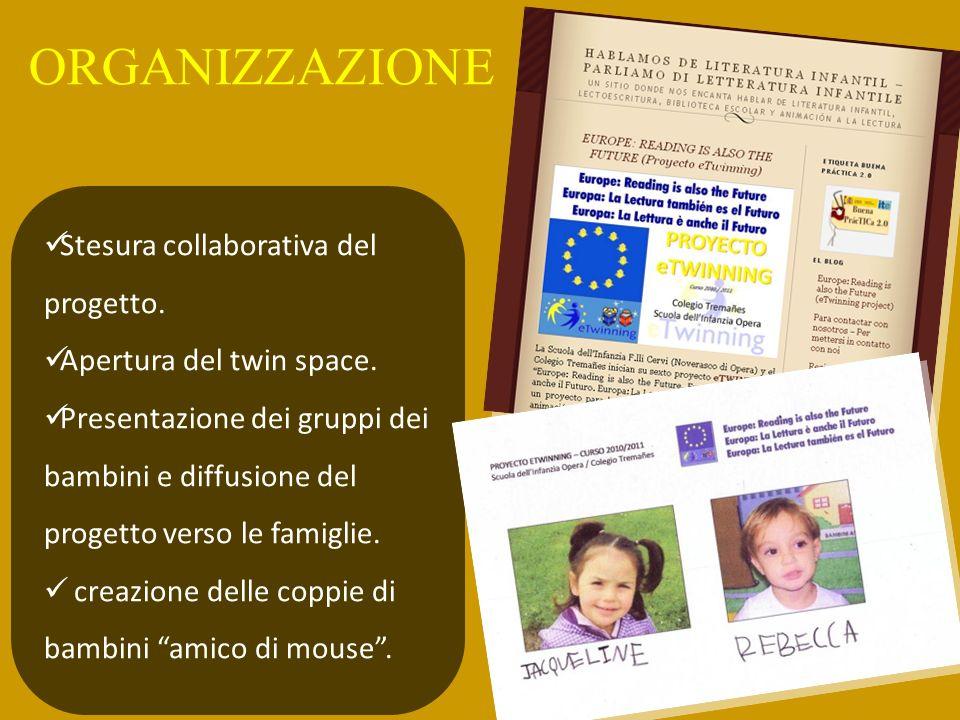 ORGANIZZAZIONE Stesura collaborativa del progetto.
