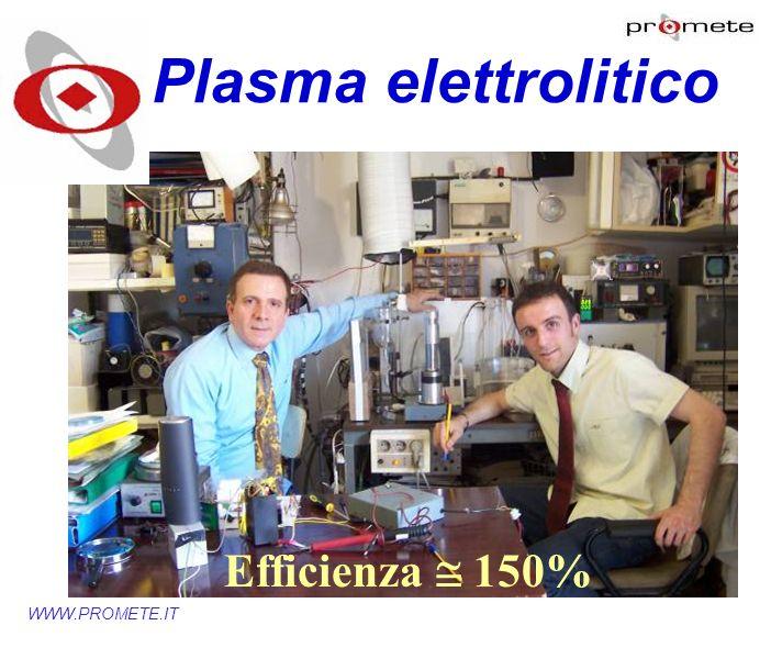 WWW.PROMETE.IT Efficienza 150% Plasma elettrolitico
