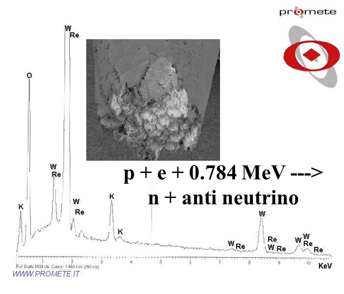 WWW.PROMETE.IT p + e + 0.784 MeV ---> n + anti neutrino