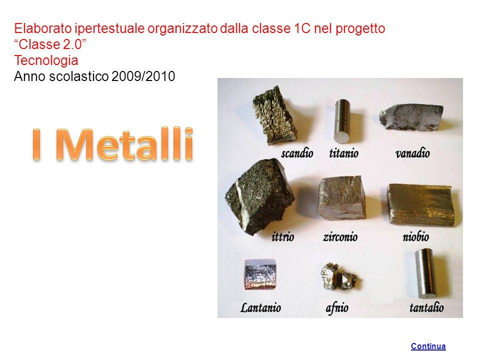 Elaborato ipertestuale organizzato dalla classe 1C nel progetto Classe 2.0 Tecnologia Anno scolastico 2009/2010 Continua