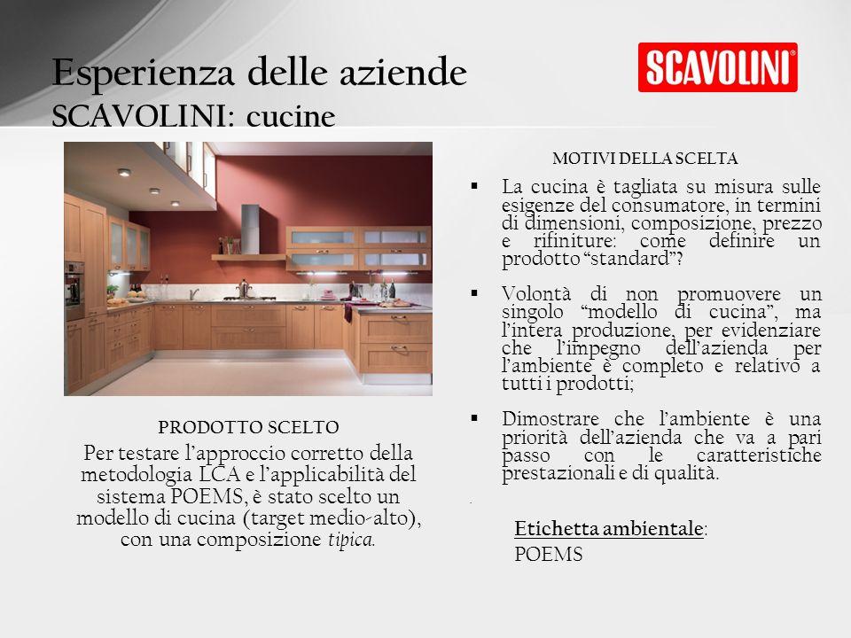 MOTIVI DELLA SCELTA La cucina è tagliata su misura sulle esigenze del consumatore, in termini di dimensioni, composizione, prezzo e rifiniture: come d