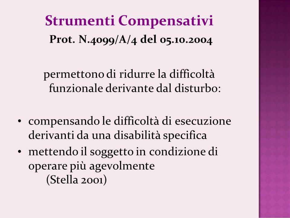 Strumenti Compensativi Prot.