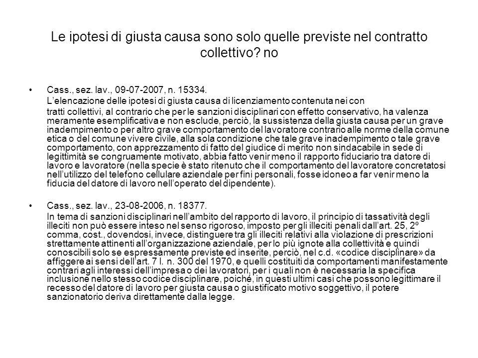 GIUSTIFICATO MOTIVO SOGGETTIVO Notevole inadempimento degli obblighi contrattuali (art.