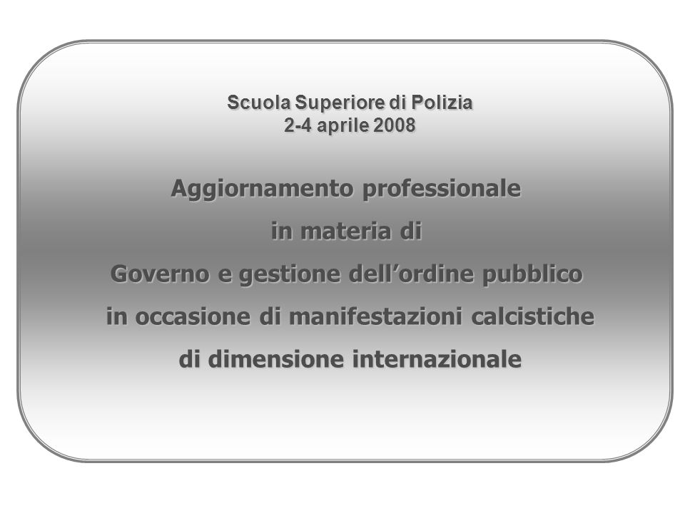 La normativa di settore