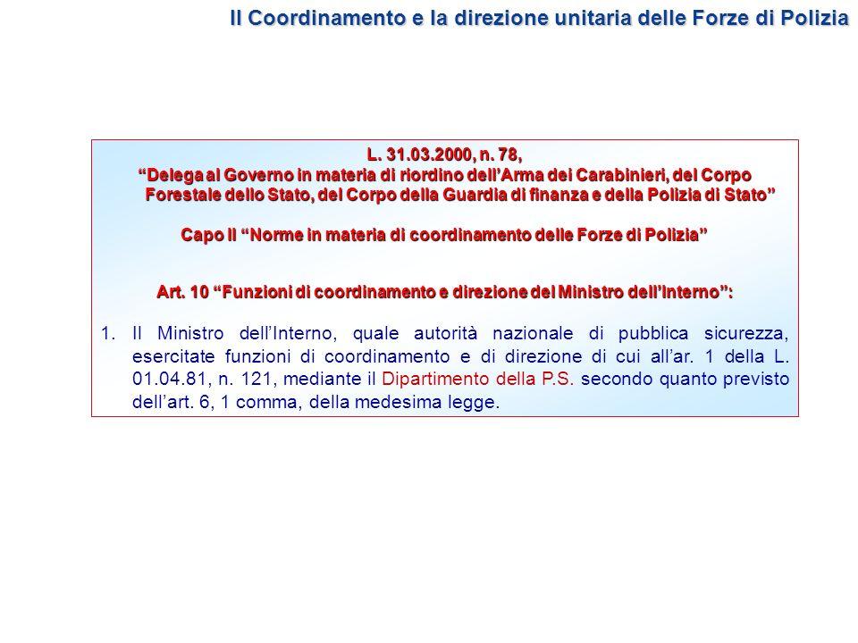 L. 31.03.2000, n. 78, Delega al Governo in materia di riordino dellArma dei Carabinieri, del Corpo Forestale dello Stato, del Corpo della Guardia di f