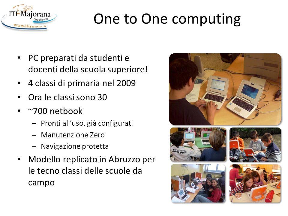 Vision: Many to one Computing Ogni studente è già dotato di almeno 2 dispositivi wireless – Smartphone – Notebook/Tablet – iPod/console Più portatili Meno postazioni fisse Sistemi eterogenei