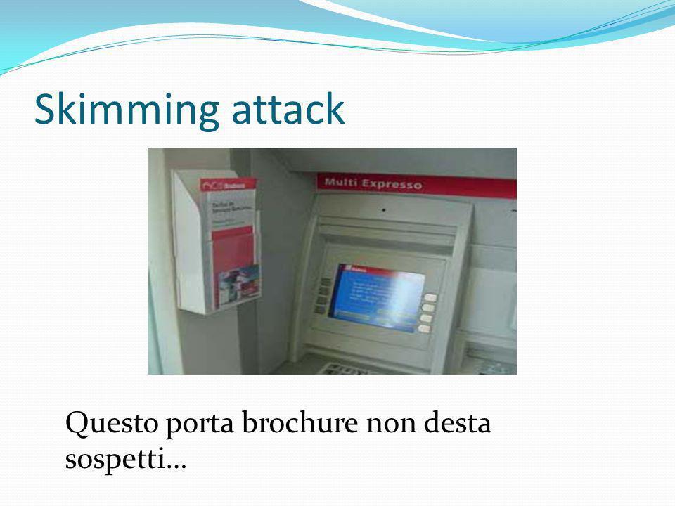 Skimming attack Questo porta brochure non desta sospetti…
