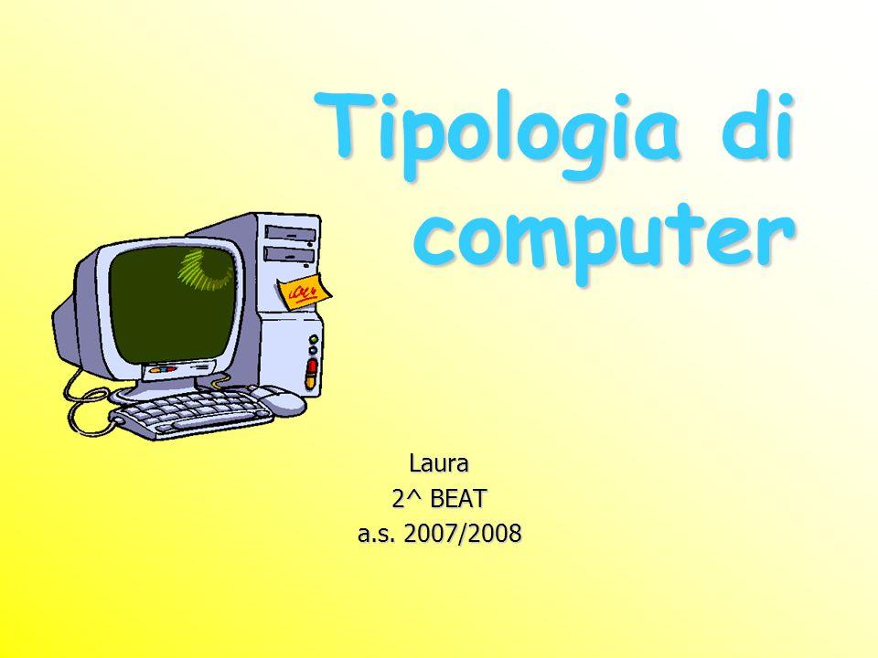 Gli attuali calcolatori digitali, benché tutti concettualmente simili, possono essere classificati in diverse categorie a seconda delle prestazioni e del costo: i super computer i mainframe le workstation i personal computer i notebook i palmari
