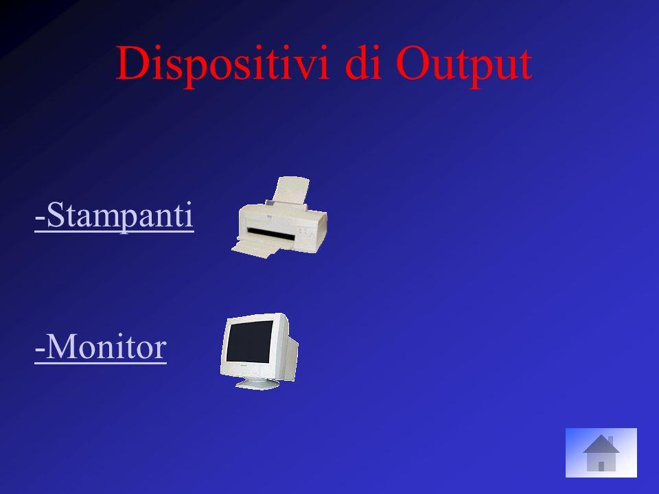 DVD (Digital Versatile Disk) o (Digital Video Disk) –Capacità attuale di ~5GB –Il lettore DVD costa poco più di un lettore CDROM e legge anche i CDROM