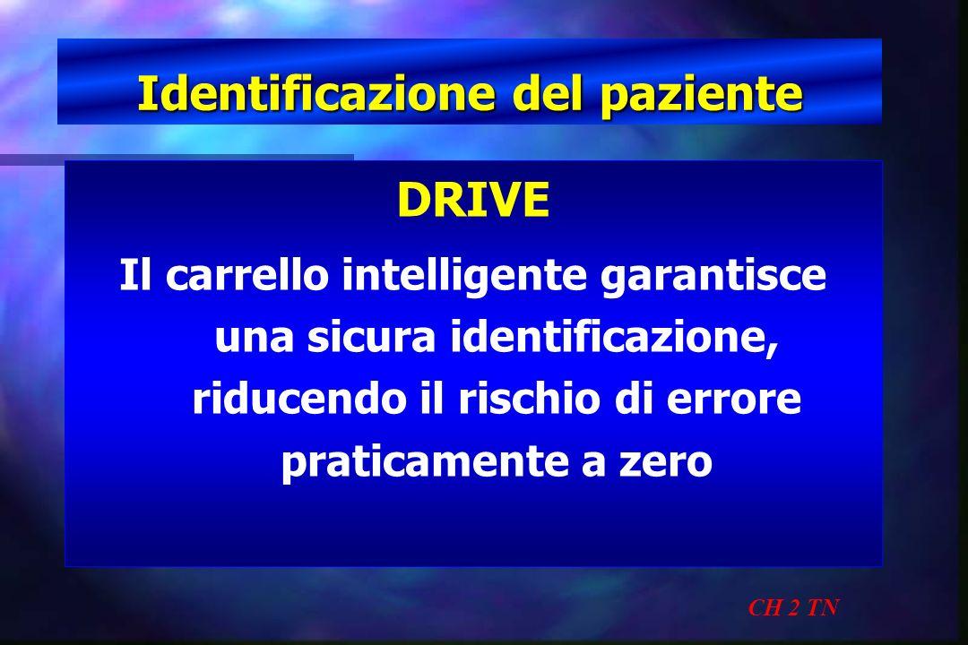 Identificazione del paziente CH 2 TN DRIVE Il carrello intelligente garantisce una sicura identificazione, riducendo il rischio di errore praticamente