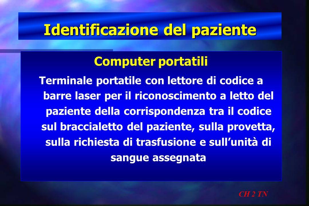Identificazione del paziente CH 2 TN Computer portatili Terminale portatile con lettore di codice a barre laser per il riconoscimento a letto del pazi