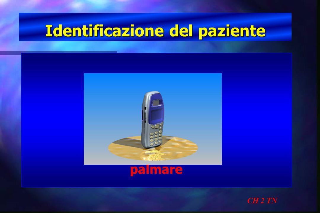 Identificazione del paziente CH 2 TN palmare