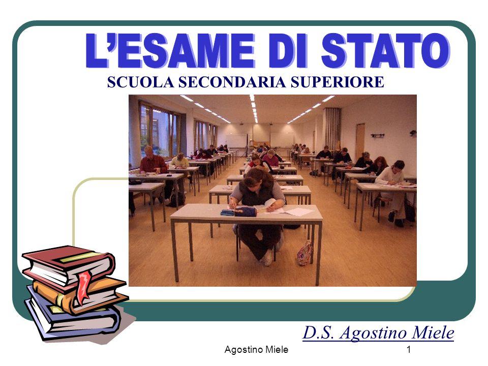 Agostino Miele SCUOLA SECONDARIA SUPERIORE D.S. Agostino Miele 1
