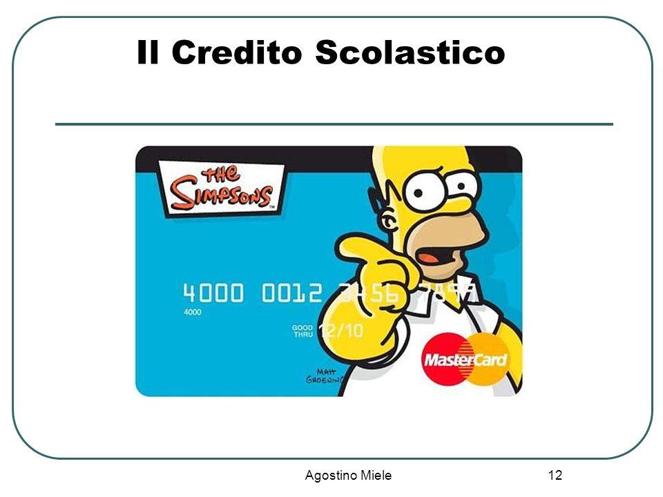 Agostino Miele Il Credito Scolastico 12