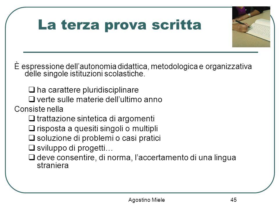Agostino Miele È espressione dellautonomia didattica, metodologica e organizzativa delle singole istituzioni scolastiche. ha carattere pluridisciplina