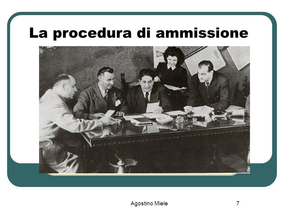 Agostino Miele La procedura di ammissione 7
