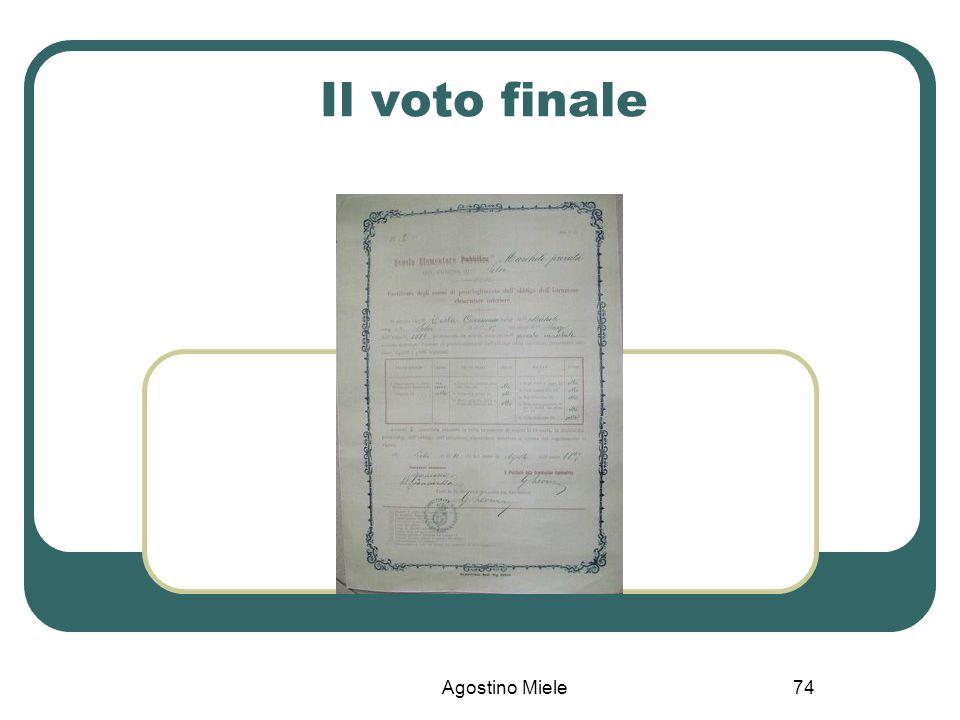 Agostino Miele Il voto finale 74