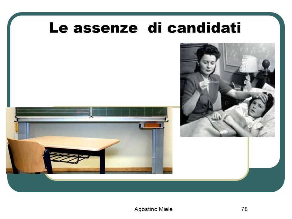 Agostino Miele Le assenze di candidati 78