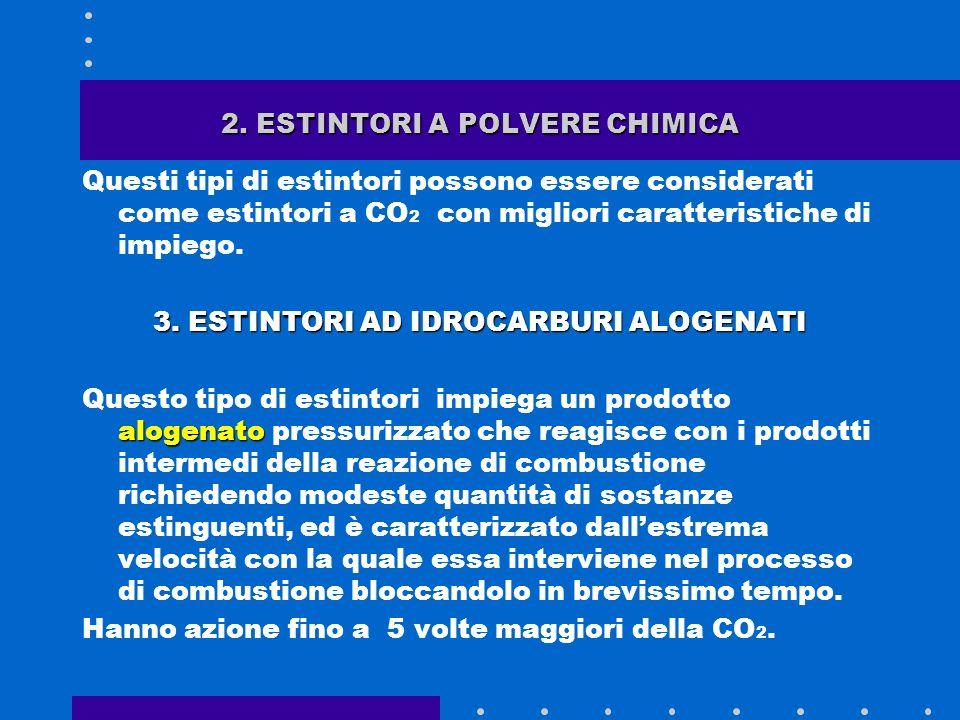 1. ESTINTORI AD ANIDRIDE CARBONICA lanidride carbonica è un gas inerte di cui si sfruttano le caratteristiche soffocanti. Per poterla impiegare a scop