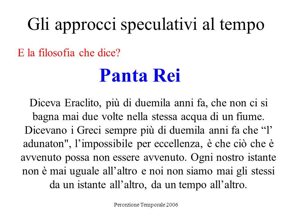 Percezione Temporale 2006 I primi studi sperimentali sulla percezione del tempo Come scritto da G.