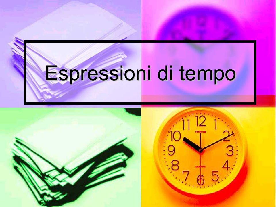 Espressioni di tempo