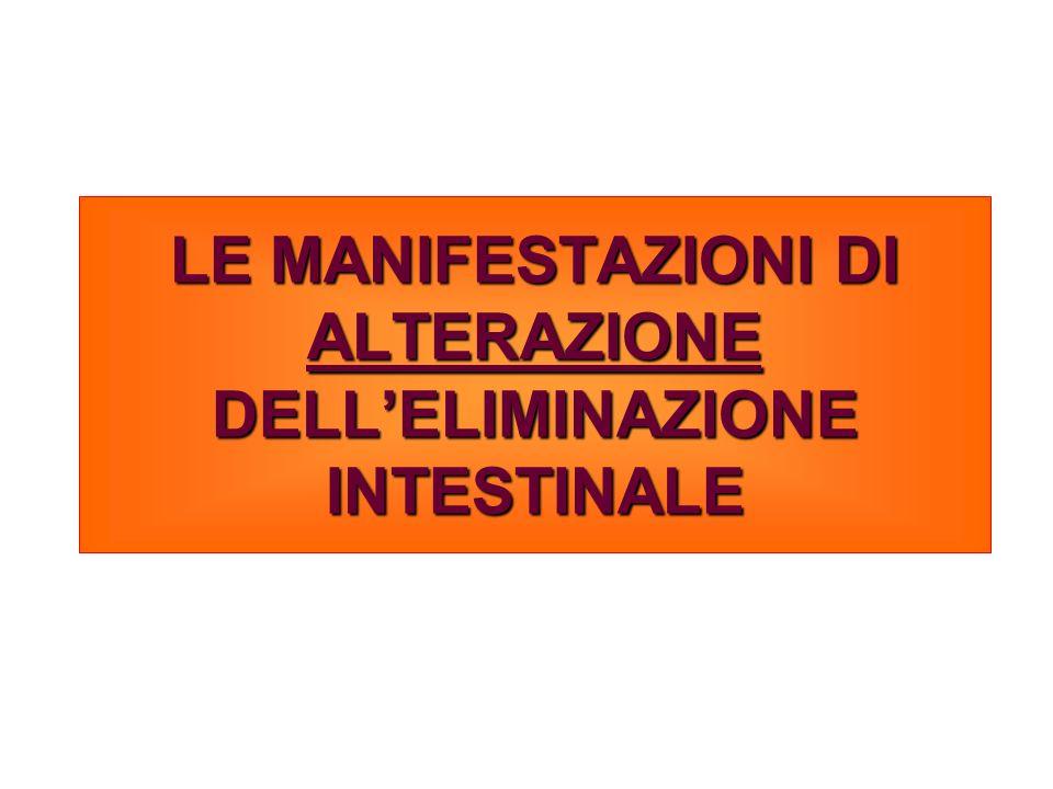 LE MANIFESTAZIONI DI ALTERAZIONE DELLELIMINAZIONE INTESTINALE