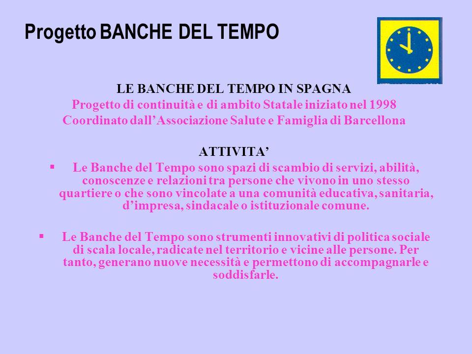 Puoi inviare le tue informazioni sulla tue Banca del Tempo da pubblicare nel nostro bolletino elettronico Grazie per la diffusione del progetto delle BANCHE DEL TEMPO Associazione Salute e Famiglia.