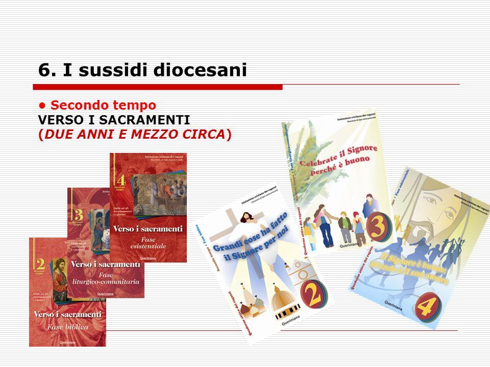 6. I sussidi diocesani Secondo tempo VERSO I SACRAMENTI (DUE ANNI E MEZZO CIRCA)