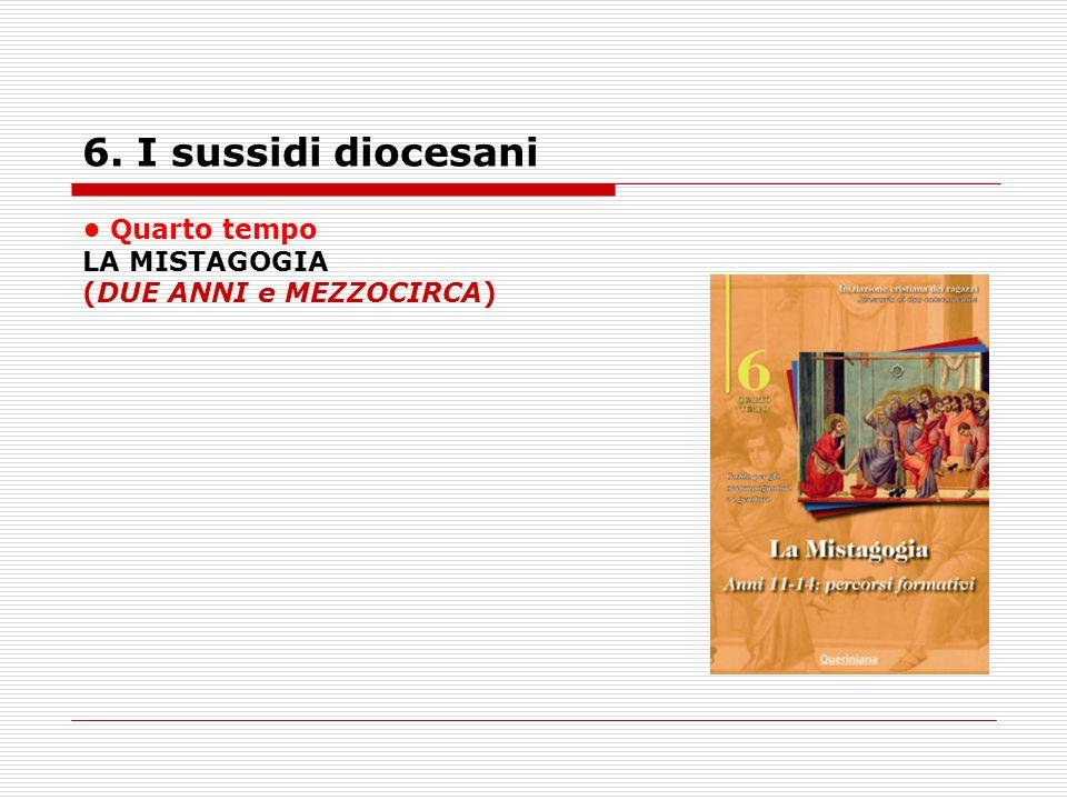 6. I sussidi diocesani Quarto tempo LA MISTAGOGIA (DUE ANNI e MEZZOCIRCA)